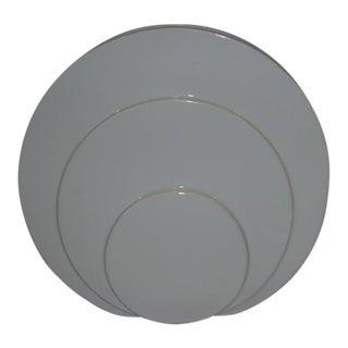 1930s Art Deco TAC Circlet Disc Vase in White Trenton Pottery For Sale