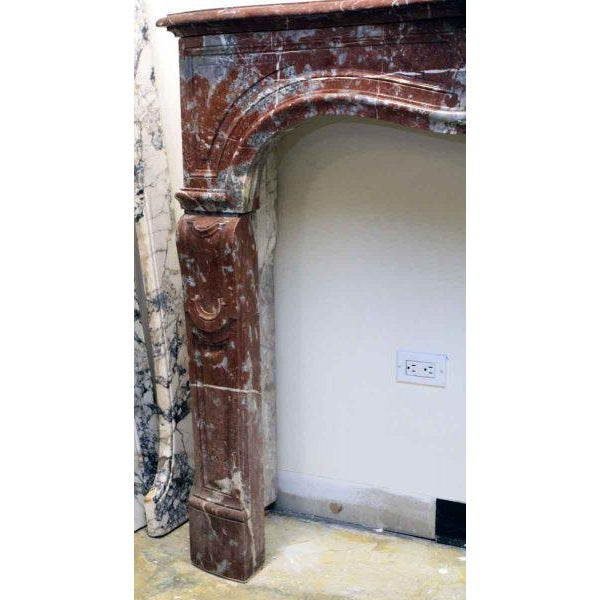 French Louis XV Style Marble Mantel For Sale - Image 3 of 6