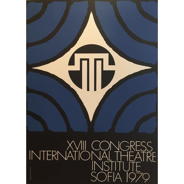 Graphic Original 1979 International Theatre Institute Poster For Sale