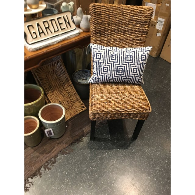 Woven Rattan Dining Chair For Sale In Chicago - Image 6 of 8