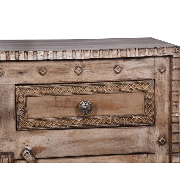 Rustic Style Two Drawer Mango Wood Cabinet/ Sideboard - Image 3 of 6