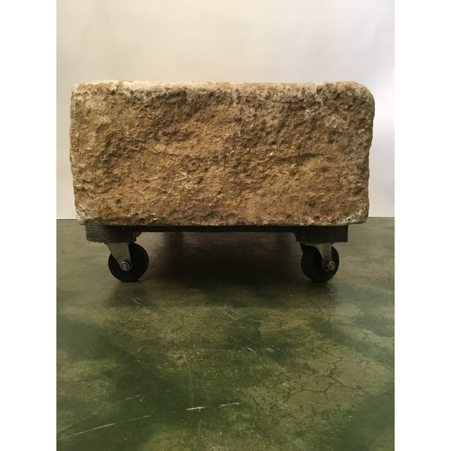 Rustic Cast Stone Farm Sink/Planter/Water Feature For Sale In Los Angeles - Image 6 of 12