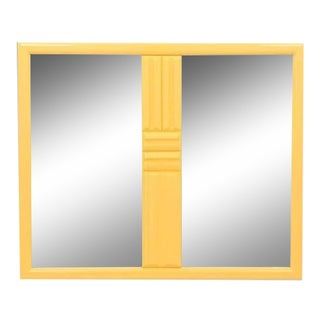 Mid Century Brutalist Style Mirror For Sale