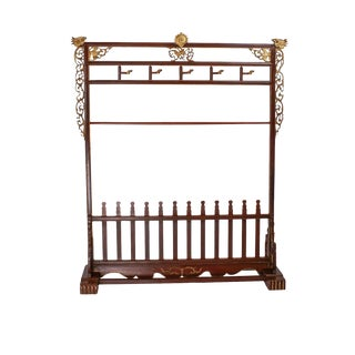 Circa 1900 Late Ching Dynasty Coat & Shoe Rack