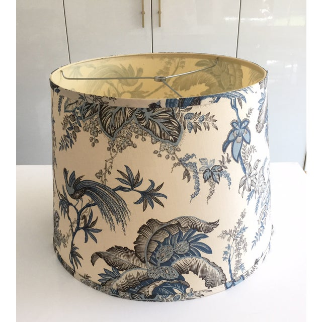 Designer Blue Tropical Toile Lamp Shade - Image 5 of 8