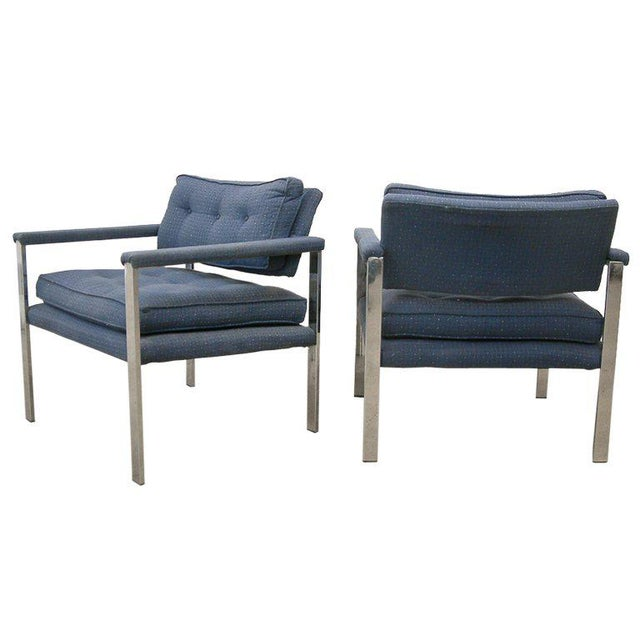 1970s Milo Baughman for Thayer Coggin Lounge Chairs - a Pair For Sale - Image 9 of 9