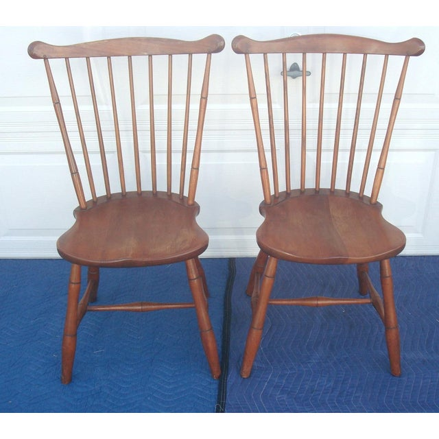 Brown Stickley Windsor Back Dining Chairs - Set of 6 For Sale - Image 8 of 11