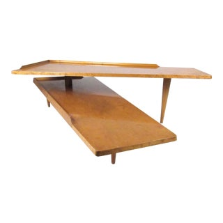 Vintage Modern Pivot Style Coffee Table For Sale