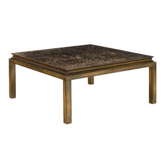 French Vintage Brass Coffee Table For Sale
