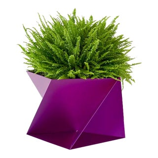 Trey Jones Studio Fuchsia Pentagami Planter For Sale