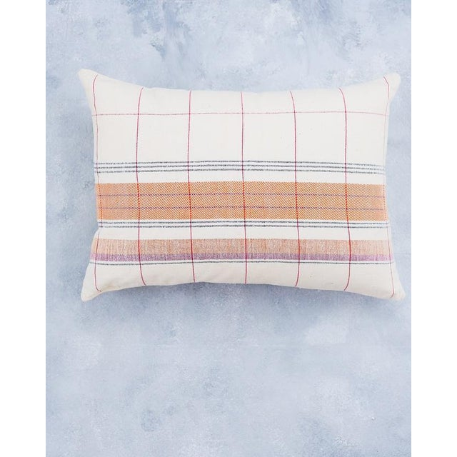 2020s Razia Organic Handwoven Pillow with Insert For Sale - Image 5 of 6