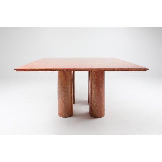 Mario Bellini Mario Bellini's Red Travertine 'Il Collonato' Dining Table For Sale - Image 4 of 11