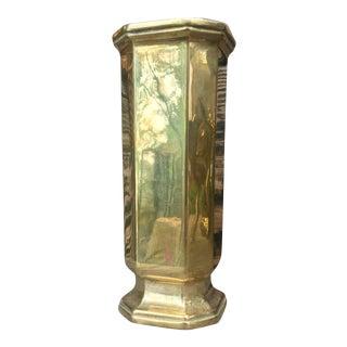 Vintage Solid Brass Art Deco Vase