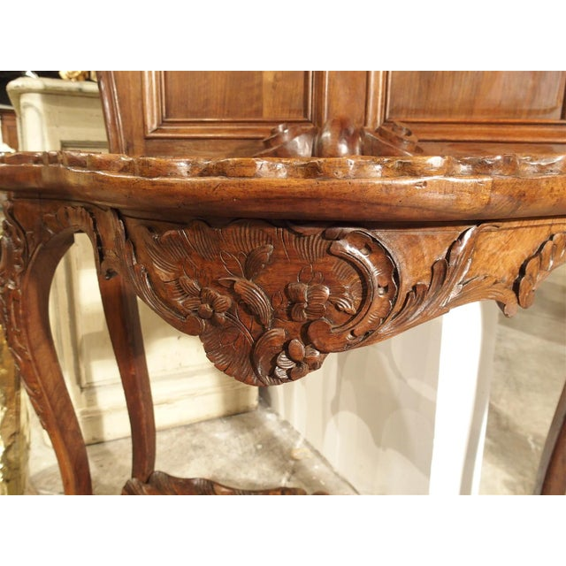 Walnut Antique French Walnut Wood Hall Rack and Umbrella Stand, Circa 1880 For Sale - Image 7 of 11
