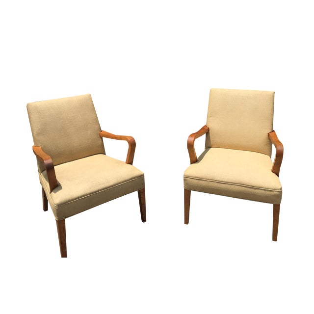 Art Deco Club Chairs - Pair - Image 1 of 10