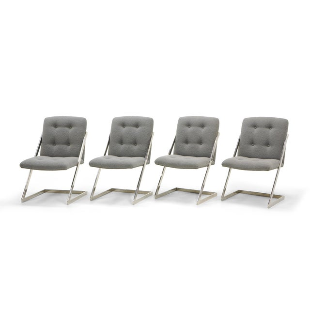 Set of Six Milo Baughman Dining Chairs, Two-Arm Chairs and Four Z Side Chairs - Image 2 of 11