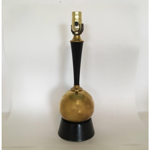Mid-Century Brass Ball Lamp - Image 2 of 5