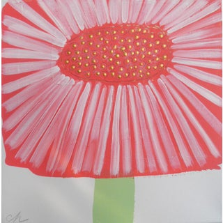 Coral Floral 2 Contemporary Painting For Sale