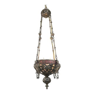 19th Century Gothic Bronze Incense Burner ~ Chandelier For Sale