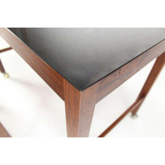 Mid-Century Modern Large Danish Mid-Century Modern Walnut Nesting Tables For Sale - Image 3 of 4