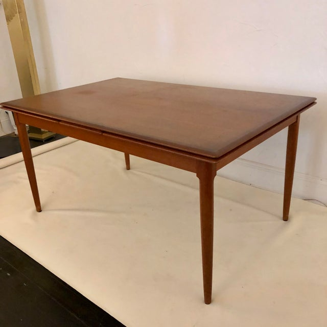 Mid-Century Modern Teak Dining Extension Table by Niels Moller For Sale - Image 3 of 10