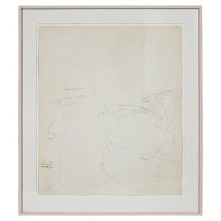 "Andy Warhol (1928 - 1987) ""Dancers"" Ink Drawing For Sale"