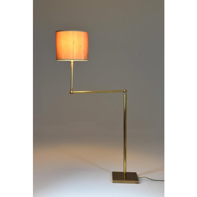 1960s 20th Century French Brass Floor Lamp, 1960's For Sale - Image 5 of 12