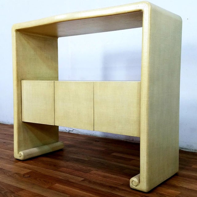 Mid-Century Harrison Van Horn Style Console Sofa Table For Sale - Image 11 of 13
