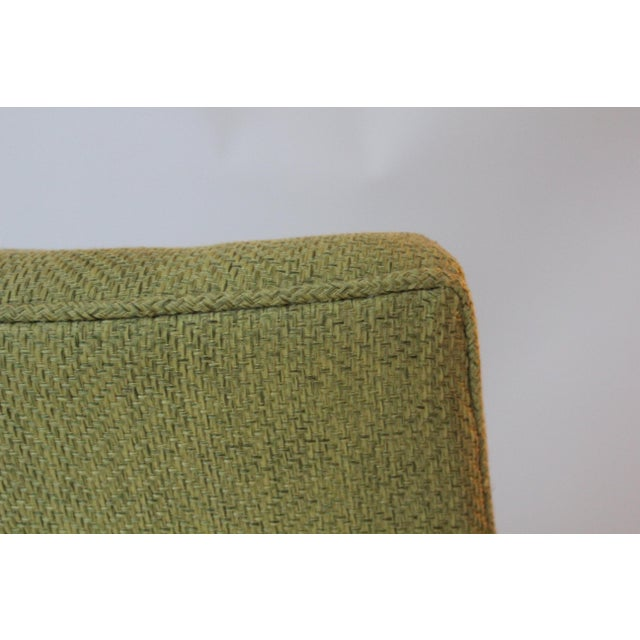 Mid-Century Modern Chartreuse Upholstered Walnut Side Chair For Sale In New York - Image 6 of 7