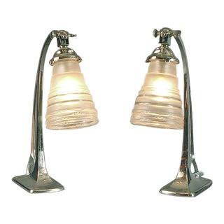 Art Deco/Art Nouveau Table Lamps - a Pair For Sale