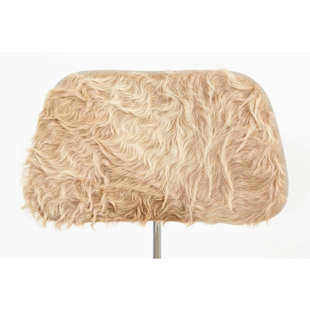 1970s Eames for Herman Miller Dcm Chairs in Longhair Brazilian Cowhide For Sale - Image 5 of 13