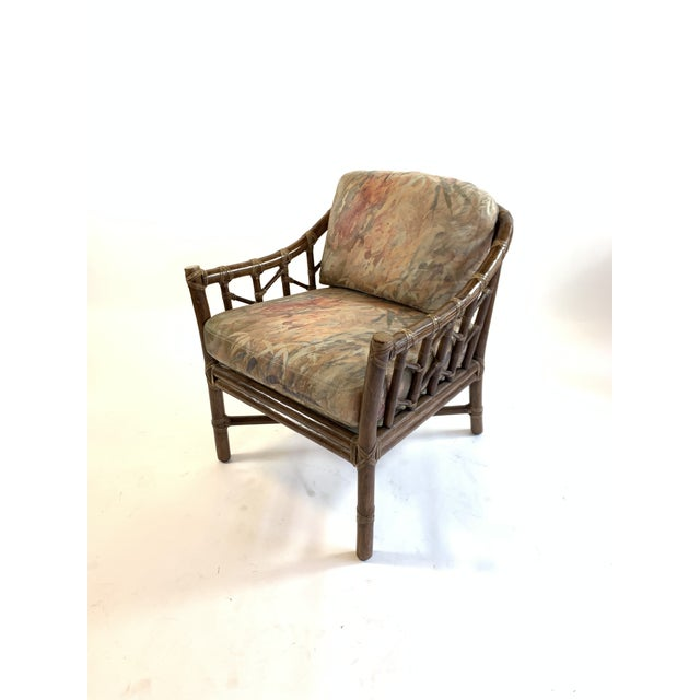 1970s 1970s Vintage McGuire Rawhide Laced Rattan Chair For Sale - Image 5 of 5