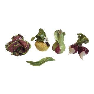 Vieuxtemps Porcelain Hand Crafted Fruit & Vegetables - Set of 5 For Sale