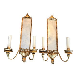 Vaughn Gilt Granville Mirrored Sconces - a Pair For Sale