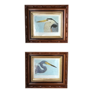 Contemporary Limited Edition Hand Painted Framed Prints - A Pair For Sale