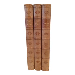 1920s Vintage Leatherbound Books - Set of 3 For Sale