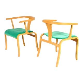 Pair of Rare Office/Side Chair Attributed to Toshiyuki Kita for Tendo, Japan, circa 1960