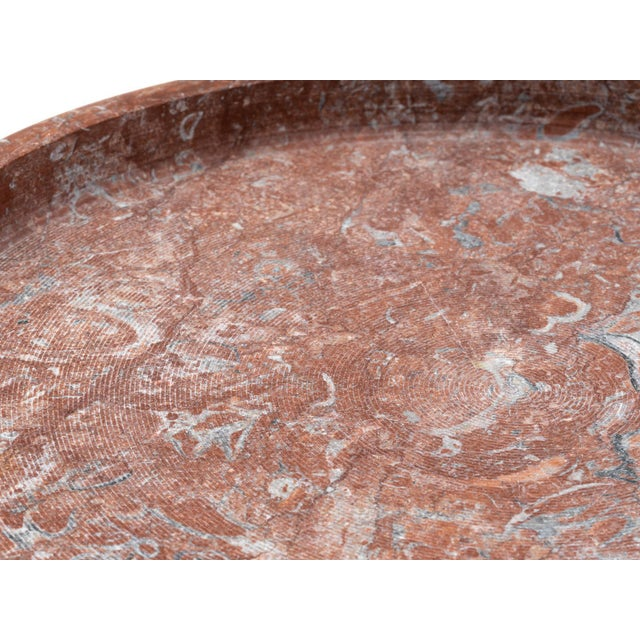 """Red Limestone """"Ciotola"""" Centerpiece by E. Di Rosa & P.A. Giusti for Up & Up 1971 For Sale - Image 4 of 11"""