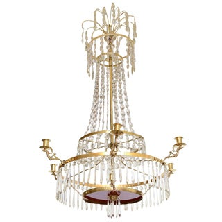 Antique Baltic Crystal Chandelier Early 19th Century For Sale