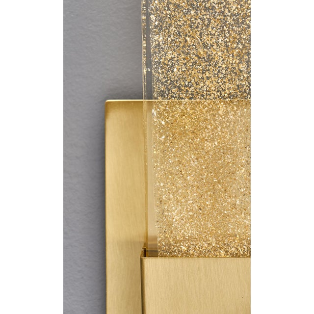 Murano Glass Modern Slab Sconces For Sale - Image 9 of 11