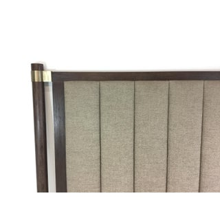 Hickory White Modern Taupe and Walnut King Headboard Preview