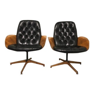 Vintage Mid-Century Lounge Chairs - A Pair For Sale