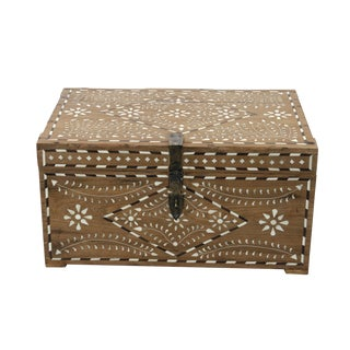 Anglo-Indian Bone Inlay Jewelry Box For Sale