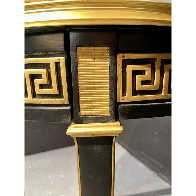 Late 20th Century Jansen Style Bouliotte / End Tables Bronze Mounted - a Pair For Sale - Image 5 of 13