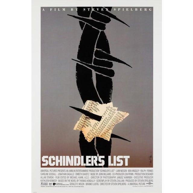 "Saul Bass ""Schindler's List"" For Sale"