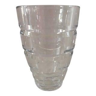 Sasaki Heavy Crystal Vase, Japan For Sale