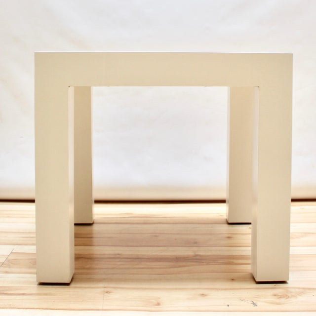 Mid-Century Modern 1973 Milo Baughman Parsons-Style Side Table For Sale - Image 3 of 8