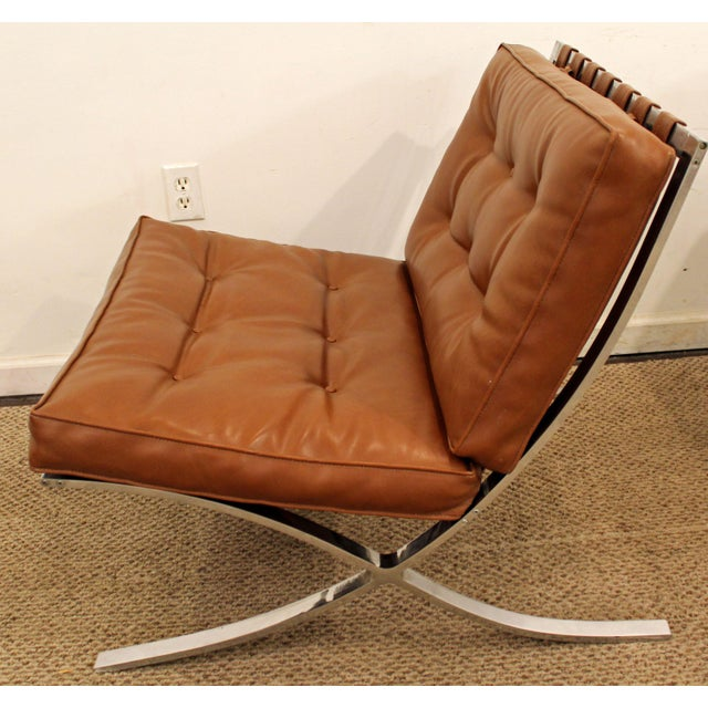 Mid-Century Danish Modern Milo Barcelona Style Chrome Lounge/Accent Chair - Image 7 of 11