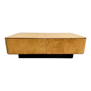 1980s Floating Burl Wood Coffee Table For Sale