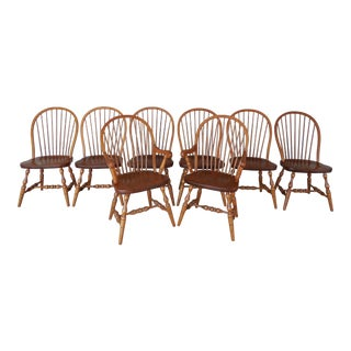 Tom Seely Hoop Back Windsor Style Chairs - Set of 8